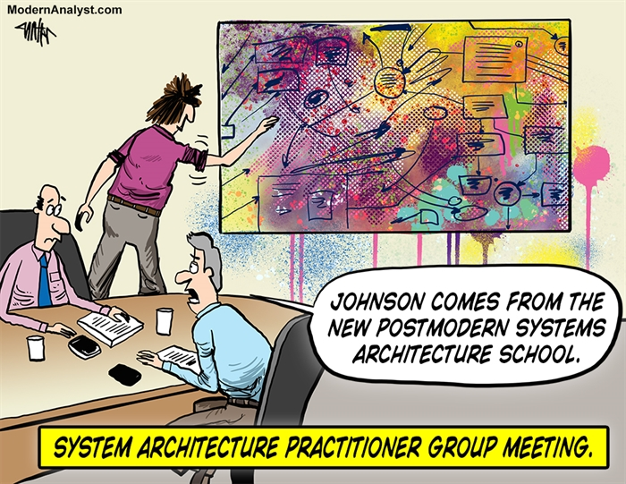 Humor - Cartoon: Systems Architect School
